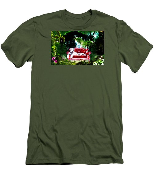 Men's T-Shirt (Slim Fit) featuring the mixed media This Place Is Reserved For The Boss by Gabriella Weninger - David