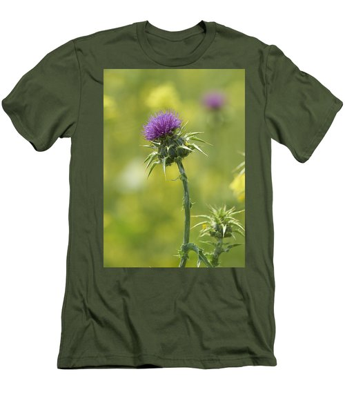 Thistle And Mustard Men's T-Shirt (Slim Fit) by Doug Herr