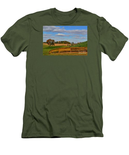 Thorntown Farm Field In The Fall Men's T-Shirt (Athletic Fit)