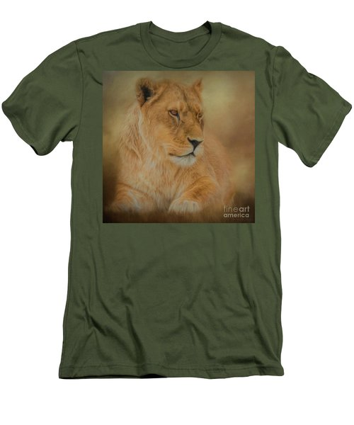 Thoughtful Lioness - Square Men's T-Shirt (Athletic Fit)
