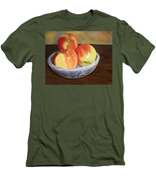 Three Apples Men's T-Shirt (Slim Fit)