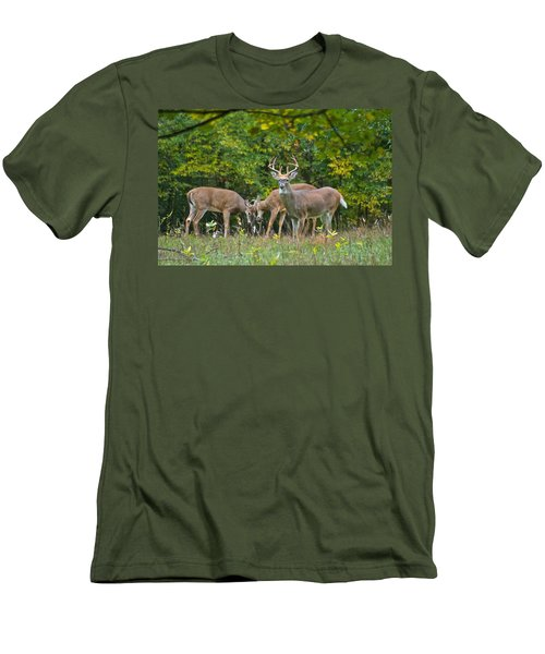 Three Bucks_0054_4463 Men's T-Shirt (Athletic Fit)