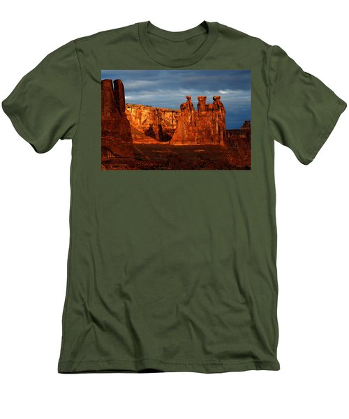 Men's T-Shirt (Slim Fit) featuring the photograph Three Gossips by Harry Spitz