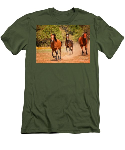 Three Racers Men's T-Shirt (Athletic Fit)