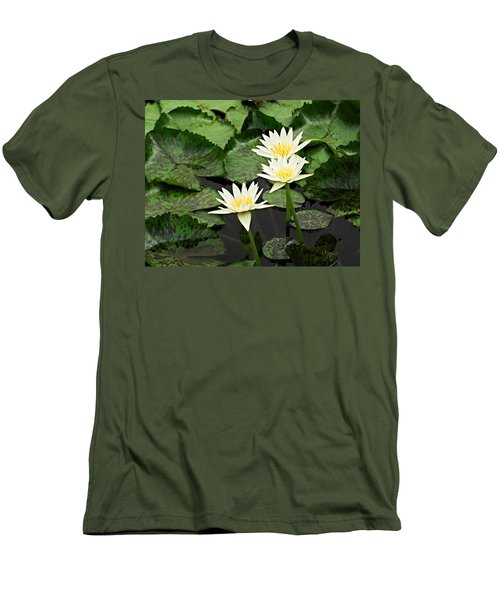Three Water Lilies Men's T-Shirt (Athletic Fit)