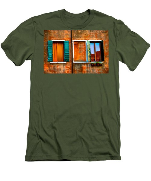 Three Windows Men's T-Shirt (Slim Fit) by Harry Spitz