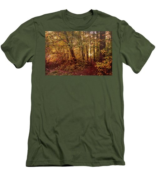 Men's T-Shirt (Athletic Fit) featuring the photograph Through The Fall Forest  by Saija Lehtonen