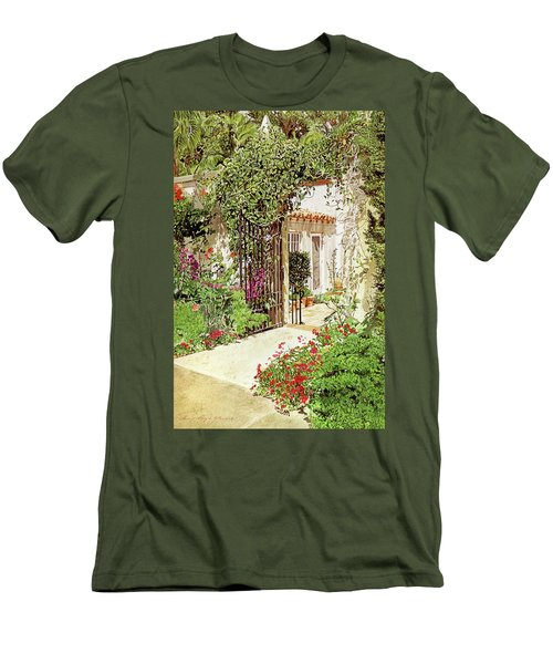 Through The Garden Gate Men's T-Shirt (Athletic Fit)