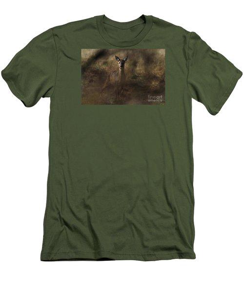 Through The Hedge Row  Men's T-Shirt (Slim Fit) by Gary Bridger