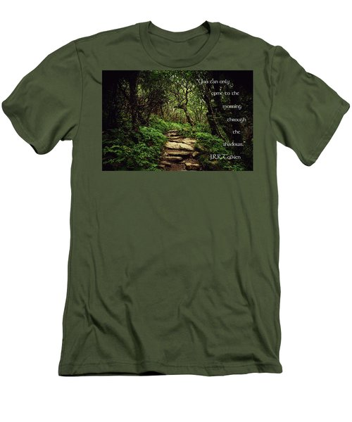 Men's T-Shirt (Slim Fit) featuring the photograph Through The Shadows by Jessica Brawley