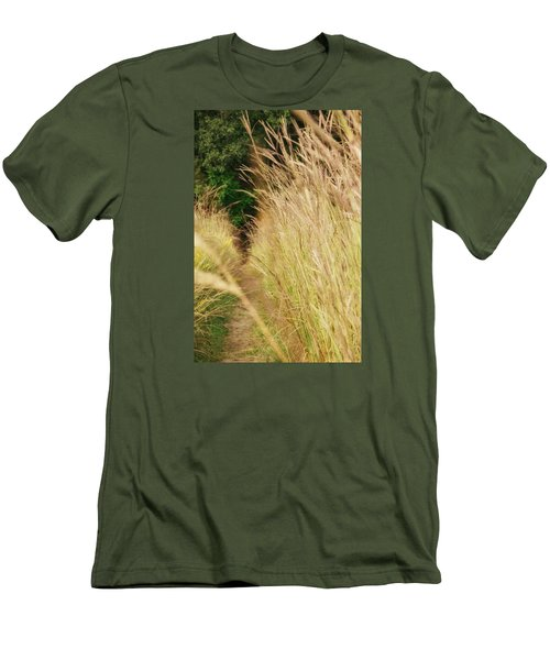 Men's T-Shirt (Slim Fit) featuring the photograph Through The Tall Grass by Nikki McInnes