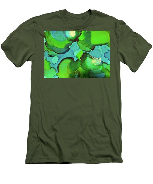 Men's T-Shirt (Athletic Fit) featuring the painting Through The Waters by Michele Myers