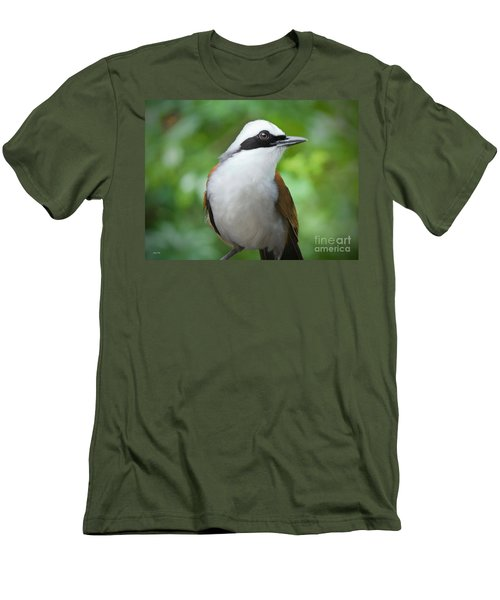 Thrush Pose Men's T-Shirt (Slim Fit) by Judy Kay