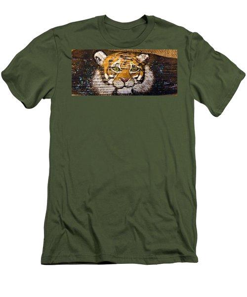 Tiger Men's T-Shirt (Slim Fit) by Ann Michelle Swadener