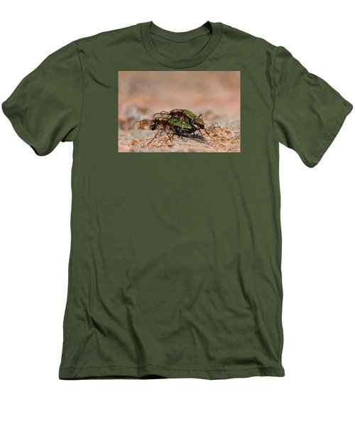 Men's T-Shirt (Slim Fit) featuring the photograph Tiger Beetle by Richard Patmore