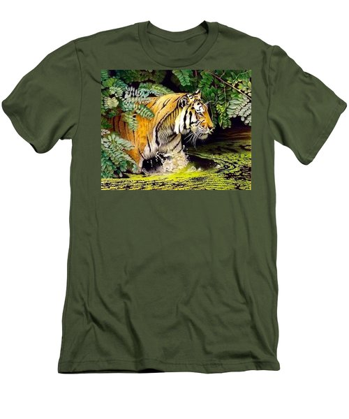 Tiger In The Dundurban Delta Men's T-Shirt (Athletic Fit)