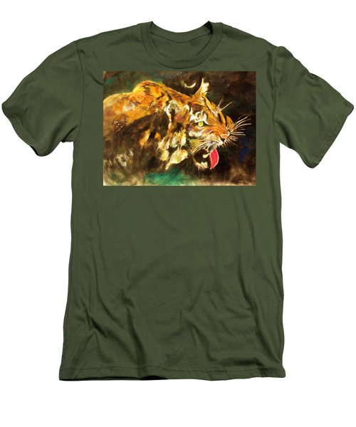 Tiger Men's T-Shirt (Slim Fit) by Khalid Saeed