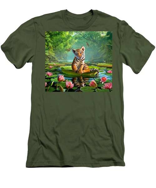 Tiger Lily Men's T-Shirt (Slim Fit) by Jerry LoFaro