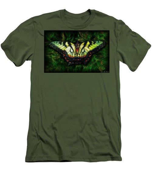 Tiger Swallowtail Men's T-Shirt (Slim Fit) by Iowan Stone-Flowers