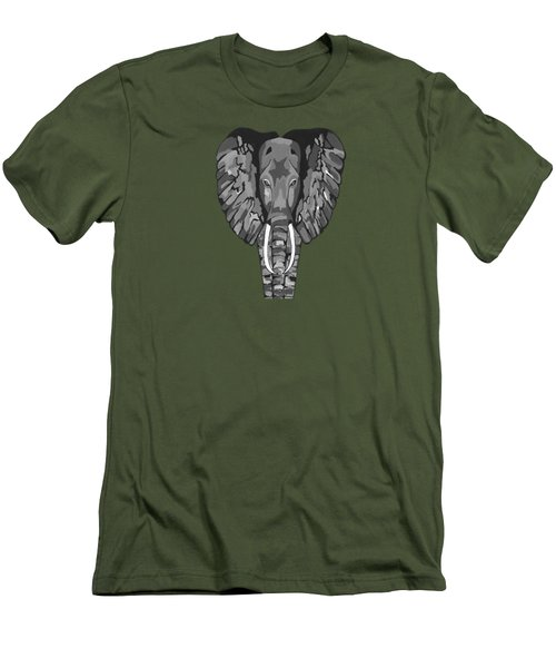 Tiled Elephants Men's T-Shirt (Slim Fit)