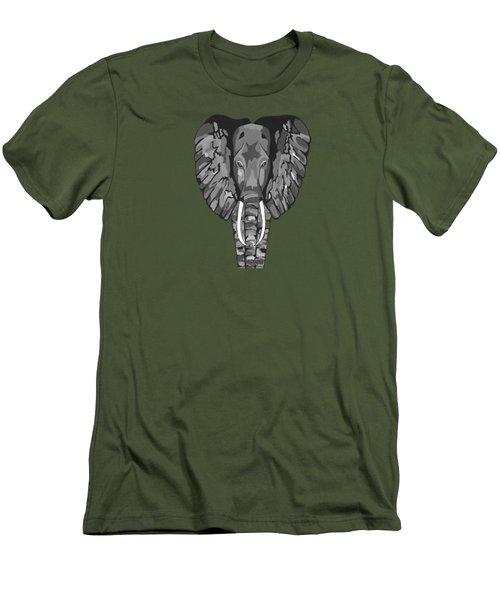 Tiled Elephants Men's T-Shirt (Athletic Fit)