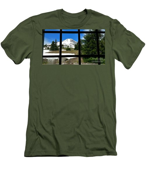 Timberline Lodge View Men's T-Shirt (Athletic Fit)