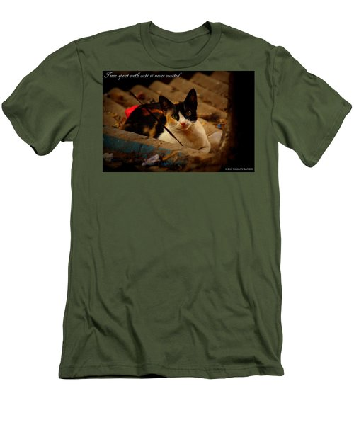 Time Spent With Cats. Men's T-Shirt (Slim Fit) by Salman Ravish