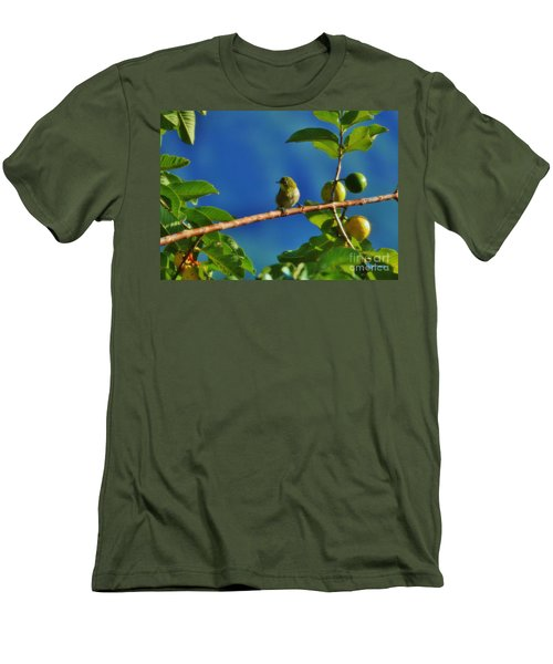 Tiny White Eye And Guava Men's T-Shirt (Athletic Fit)
