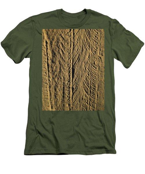 Men's T-Shirt (Slim Fit) featuring the photograph Tire Tracks by R  Allen Swezey