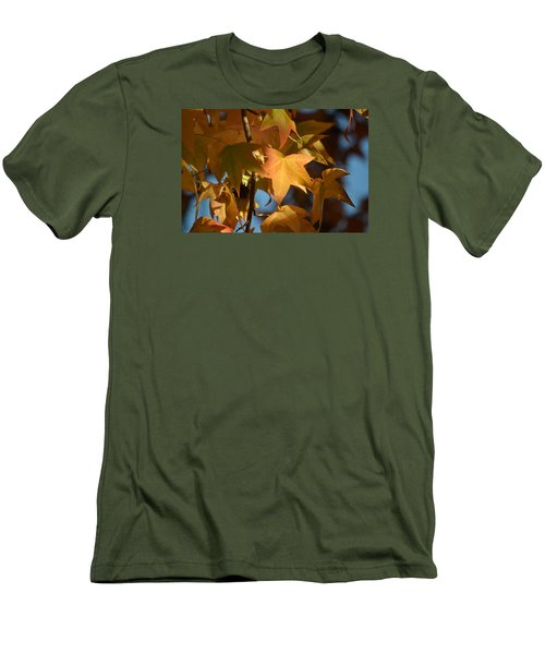 Men's T-Shirt (Slim Fit) featuring the photograph To Me Is Fun It Feels Like Fall.  by Alex King
