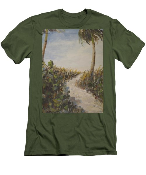 To The Beach Men's T-Shirt (Slim Fit) by Alan Lakin
