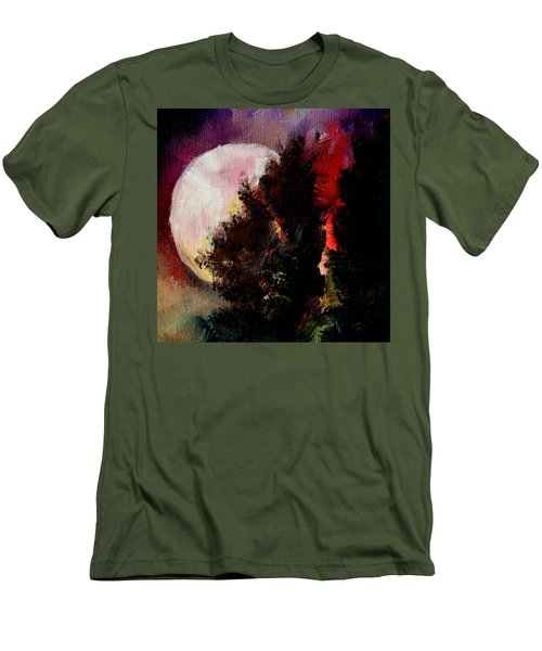 To The Moon And Back Men's T-Shirt (Slim Fit) by Michele Carter