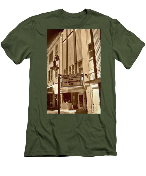 Men's T-Shirt (Slim Fit) featuring the photograph To The Movies by Skip Willits