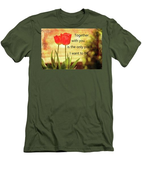 Men's T-Shirt (Athletic Fit) featuring the photograph Together With You by Trina Ansel