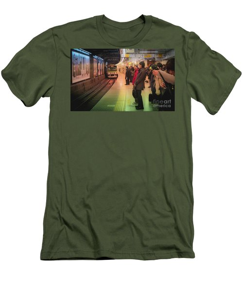 Tokyo Metro, Japan Men's T-Shirt (Athletic Fit)
