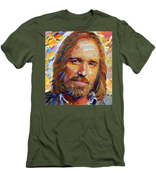 Tom Petty Tribute Portrait 1 Men's T-Shirt (Athletic Fit)