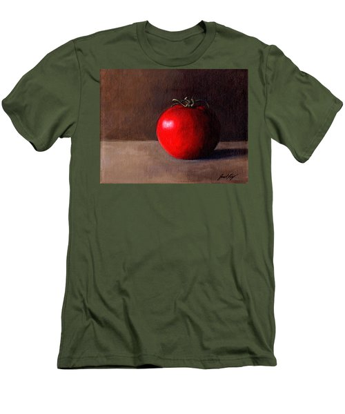 Men's T-Shirt (Slim Fit) featuring the painting Tomato Still Life 1 by Janet King