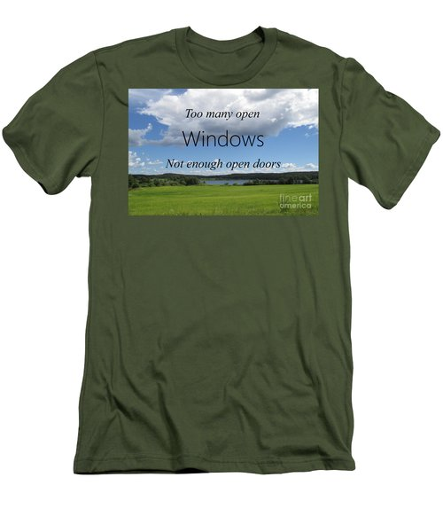 Too Many Windows Men's T-Shirt (Athletic Fit)