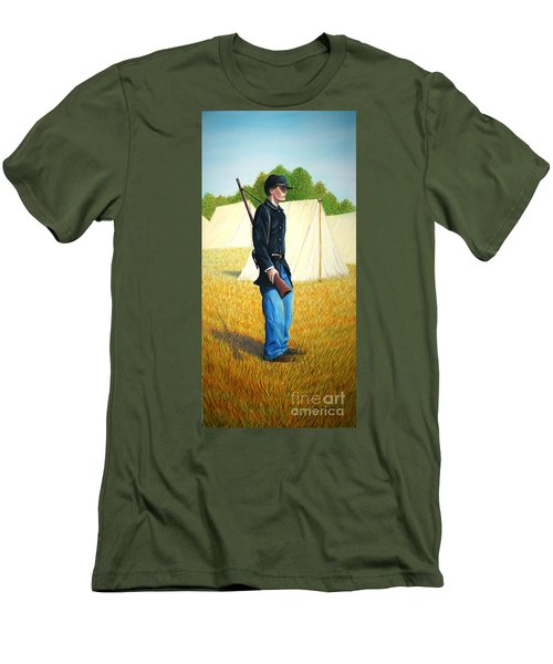 Men's T-Shirt (Slim Fit) featuring the painting Too Young by Stacy C Bottoms