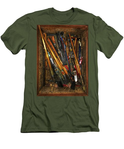 Men's T-Shirt (Slim Fit) featuring the photograph Tools Of The Painter by Jame Hayes