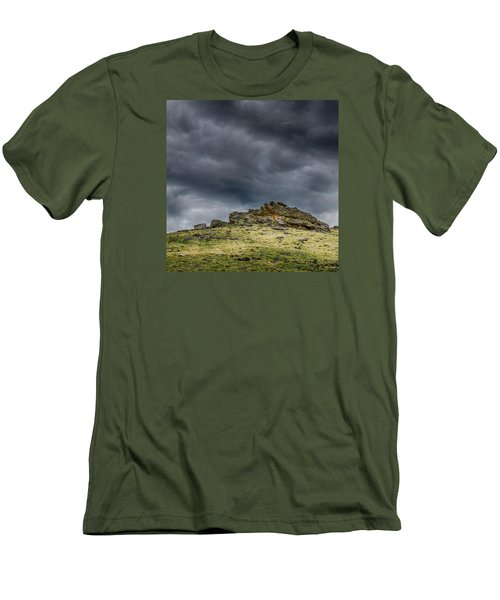 Top Of The Mountain Men's T-Shirt (Slim Fit) by Mary Angelini