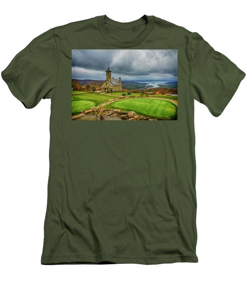Top Of The Rock Branson Mo 7r2_dsc2627_16-11-25 Men's T-Shirt (Slim Fit) by Greg Kluempers