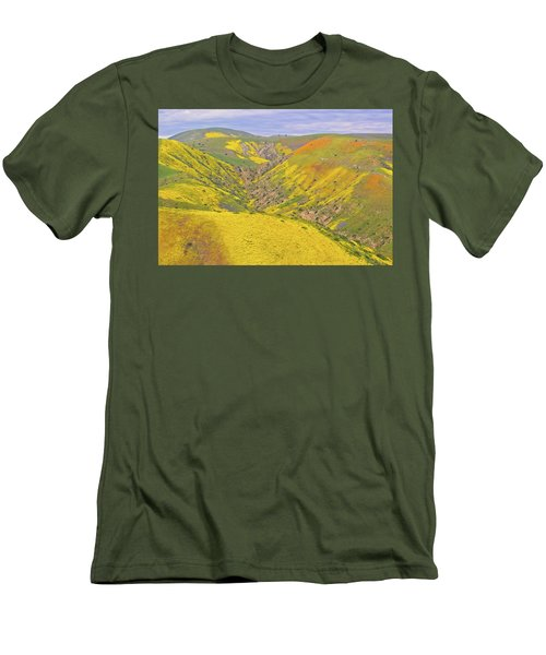 Men's T-Shirt (Slim Fit) featuring the photograph Top Of The Temblor Range by Marc Crumpler