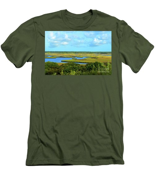 Topsail Island Marshland Men's T-Shirt (Athletic Fit)