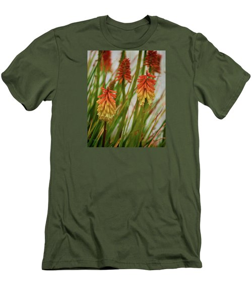 Torch Lily At The Beach Men's T-Shirt (Slim Fit) by Sandi OReilly