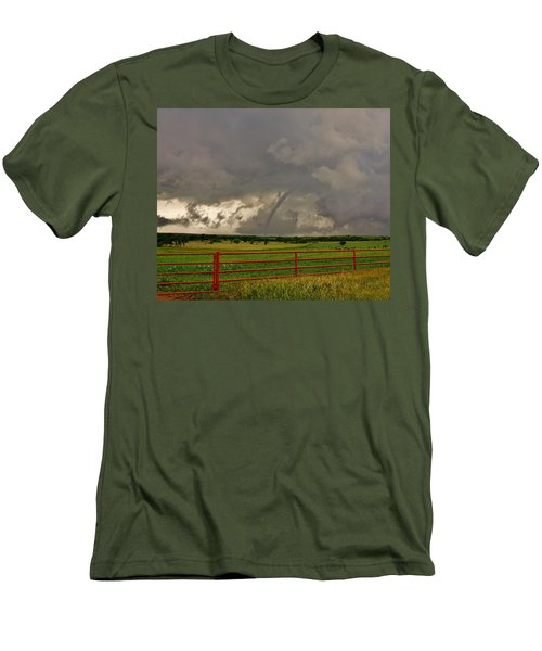 Men's T-Shirt (Athletic Fit) featuring the photograph Tornado At The Ranch by Ed Sweeney