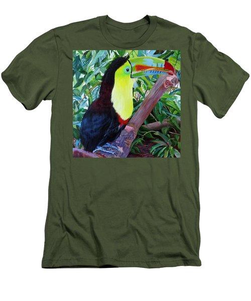 Toucan Portrait 2 Men's T-Shirt (Slim Fit) by Marilyn McNish