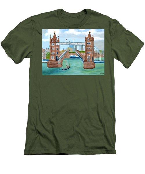 Tower Bridge London Men's T-Shirt (Slim Fit) by Magdalena Frohnsdorff