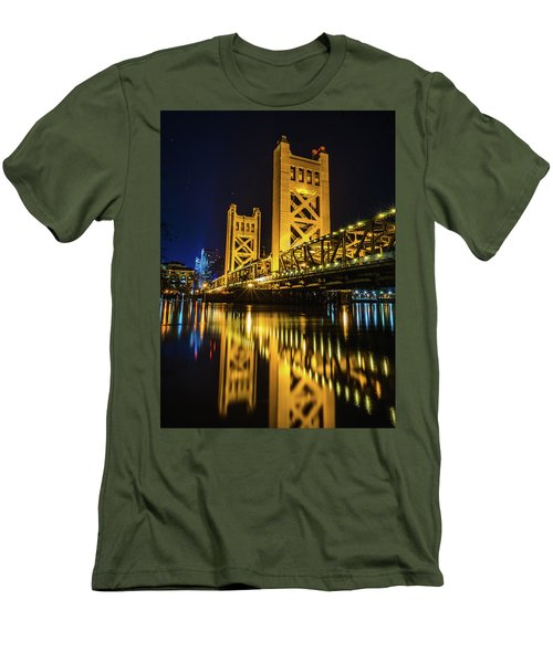 Tower Reflections Men's T-Shirt (Slim Fit) by Alpha Wanderlust