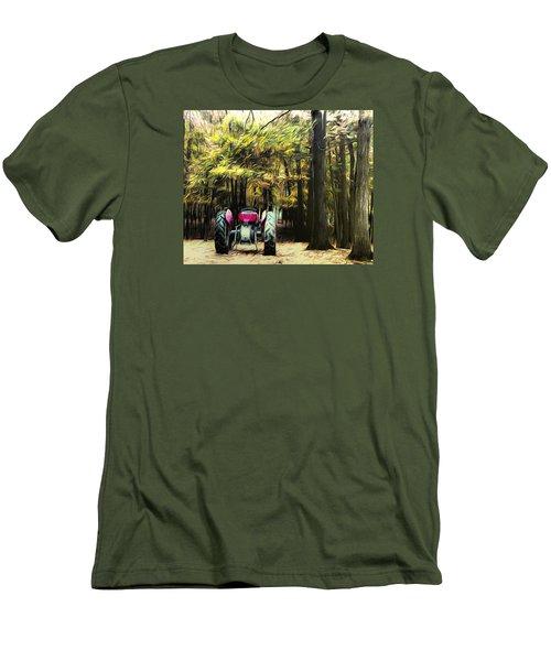 Tractor Men's T-Shirt (Slim Fit) by Carlee Ojeda
